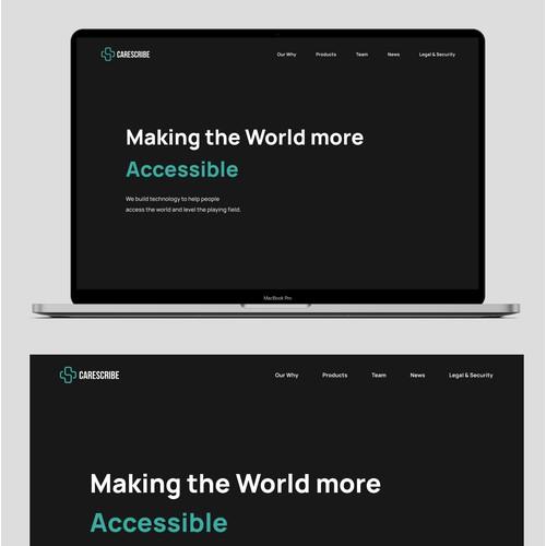 Darkmode Website Design