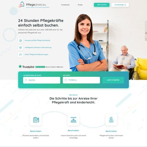 Website Design for Nursing Care at Home Service