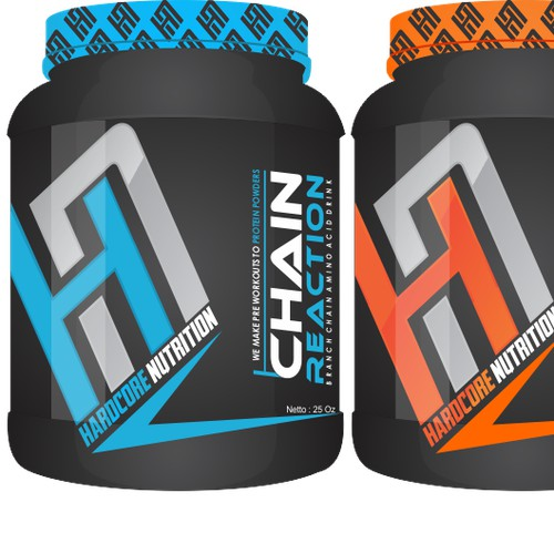 Supplement company label design