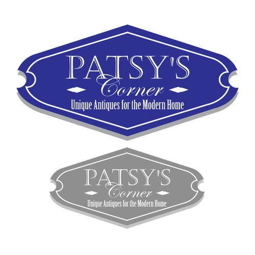 Simple elegant logo for Patsy's Antique shop