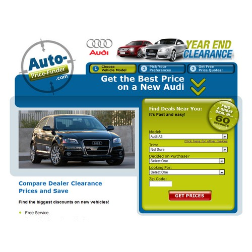 Create a Promotional Image Header for Auto Website