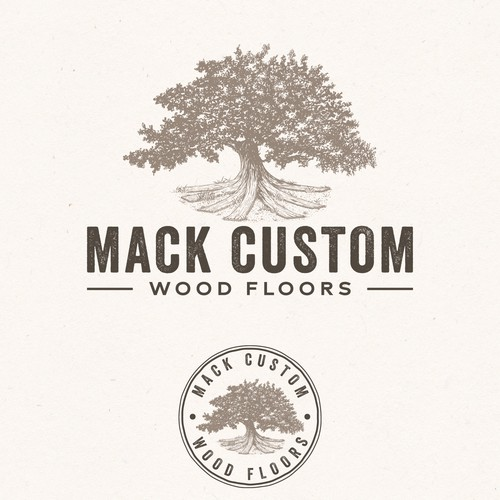 Logo for a wood flooring business