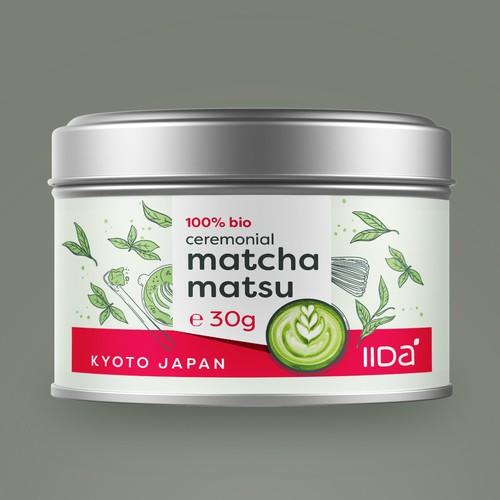Design an amazing Matcha Green Tea food label