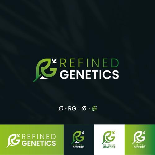 Leaf Logo Concept for Refined Genetics