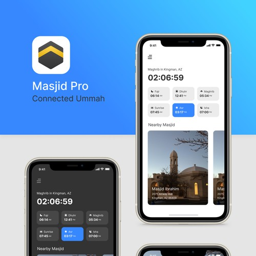 Apps to connects communities and individuals to local mosques.
