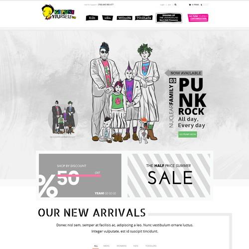 Web & Clothing design for Gopunkyourself.com
