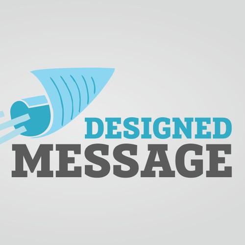 Creative logo for a creative messaging company - Designed Message