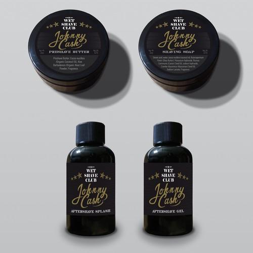 Product label design for well-established wet shaving
