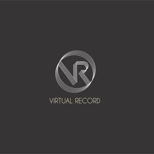 Logo concept for virtual record website