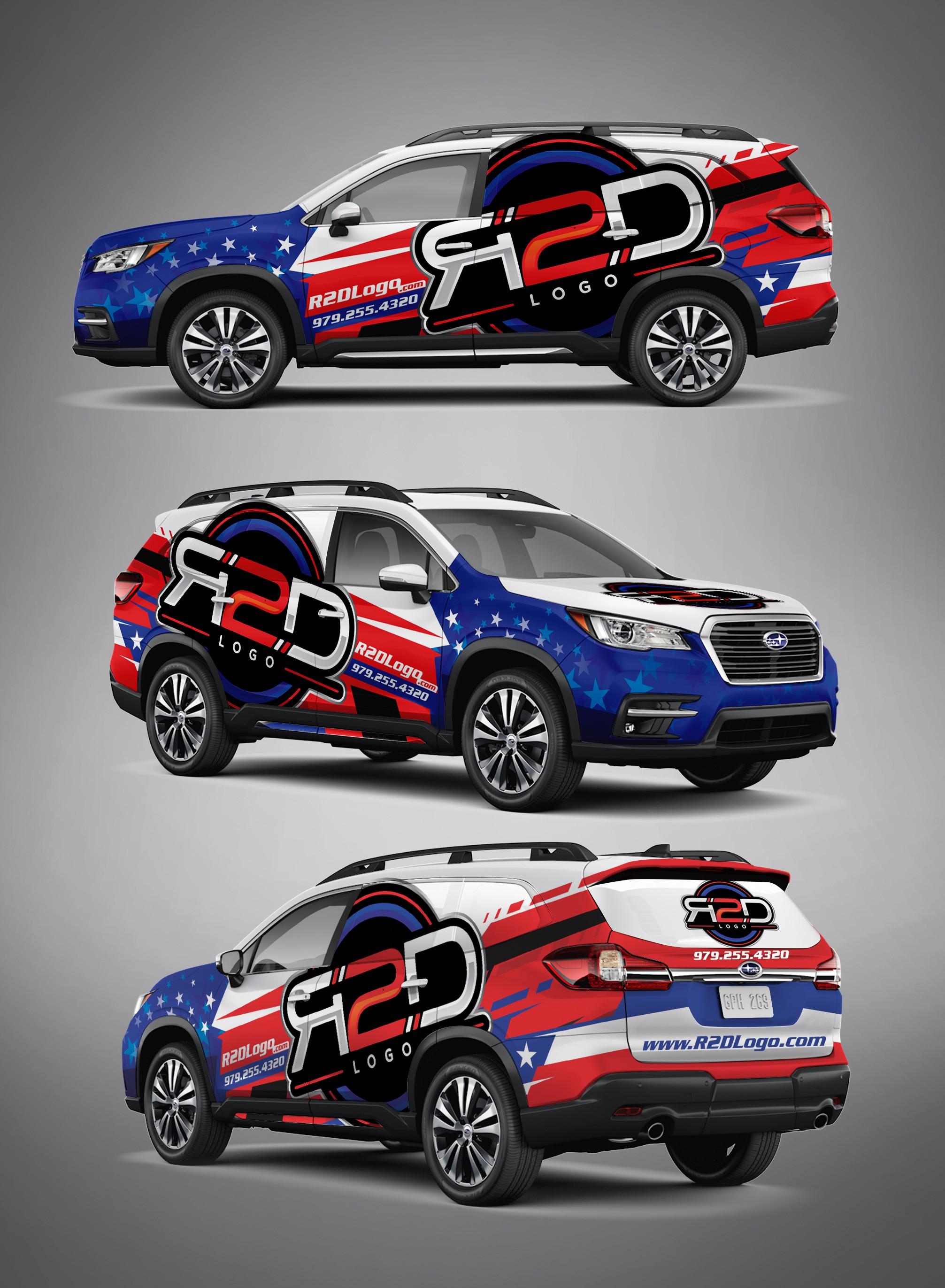 R2D Logo Texas Vehicle Wrap