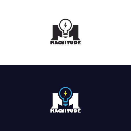 Masculine logo design for Magnitude