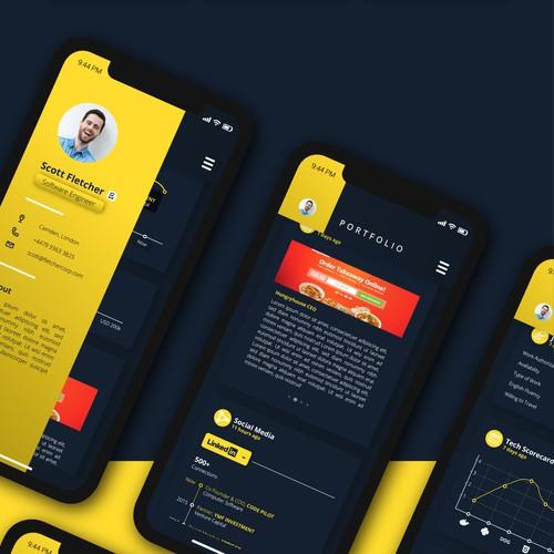 Electronic Portfolio layout concept for Code Pilot