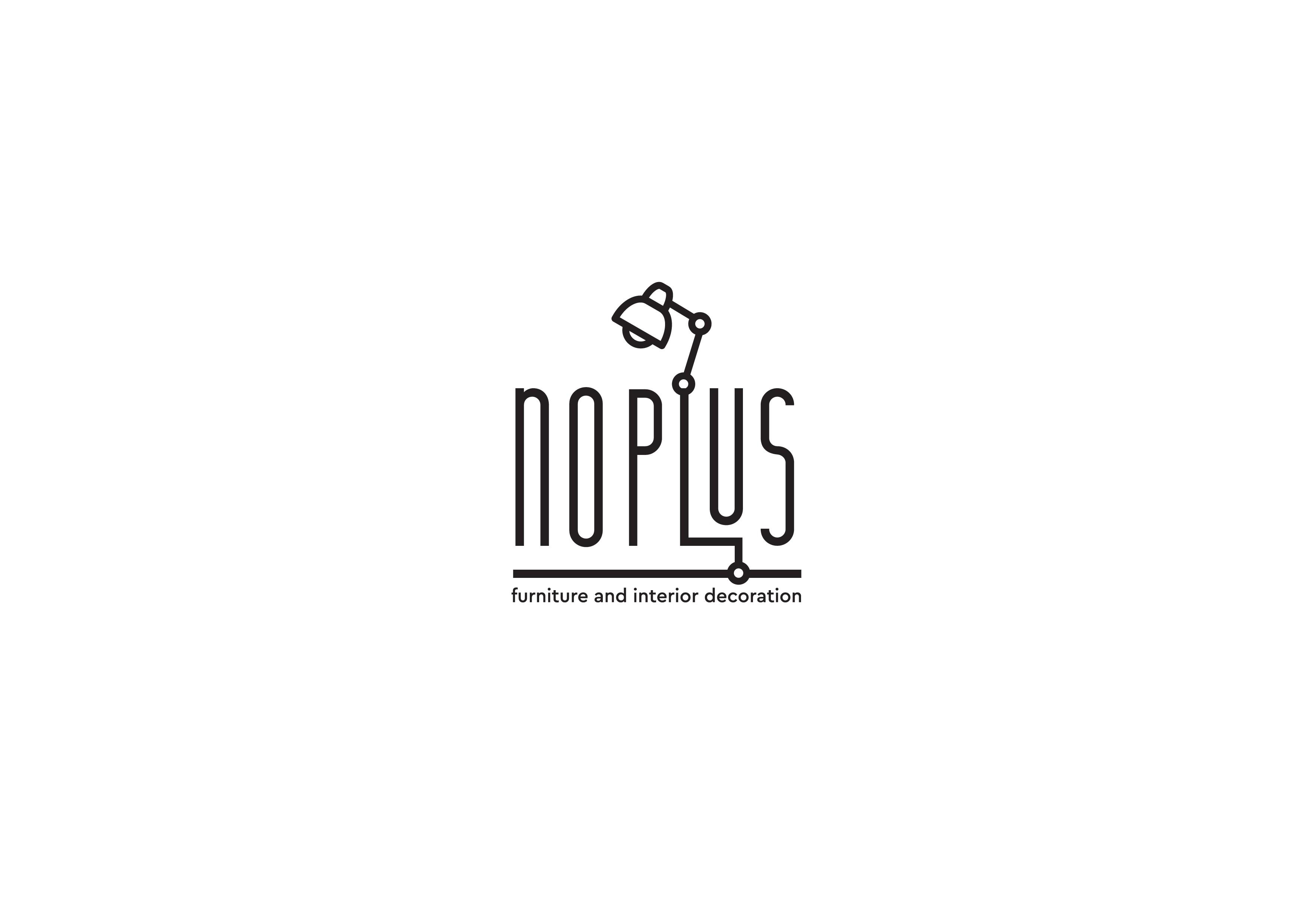 """Logo Design for a content curation site """"NOPLUS""""/インダストリアル、ヴィンテージスタイルの家具/インテリアをイメージしたロゴをデザインしてください"""