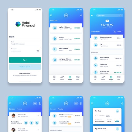 Fintech app looking for sleek mobile design
