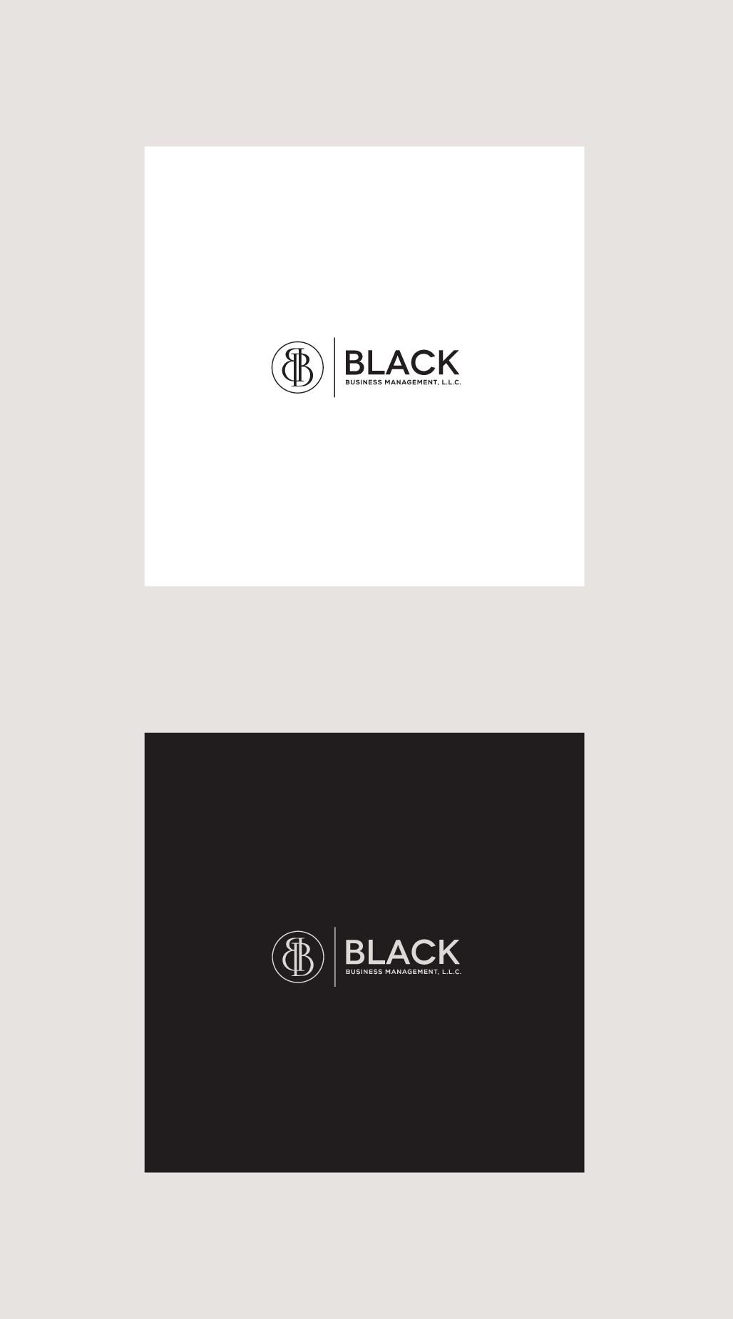 Black Business Management logo design contest