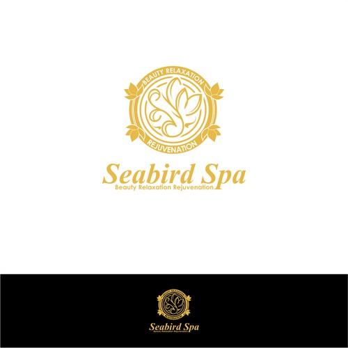 Seabird spa simple design logo