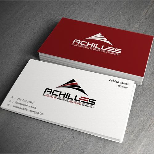 Achilles business card