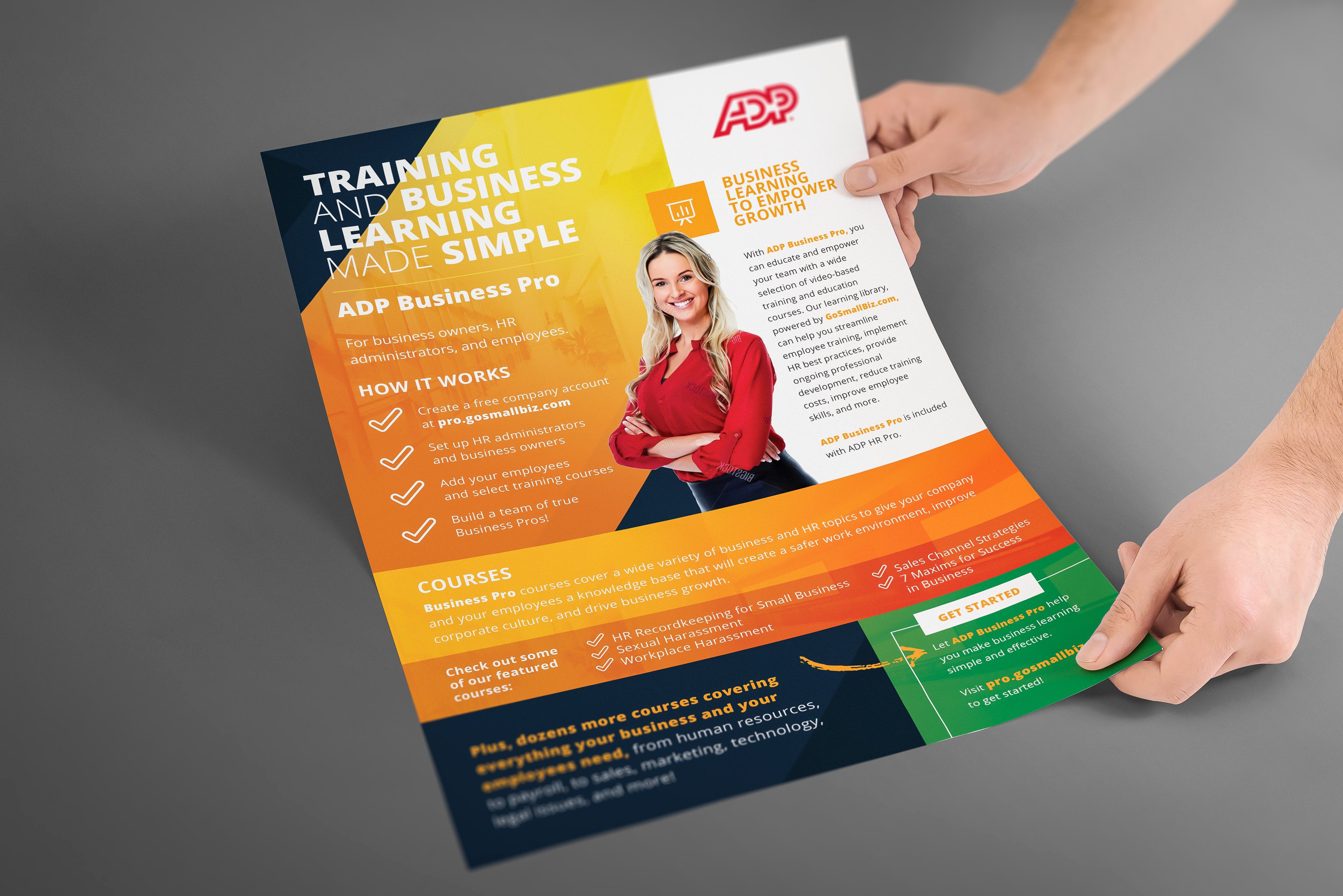 Create an eye-catching modern flyer for online learning platform!