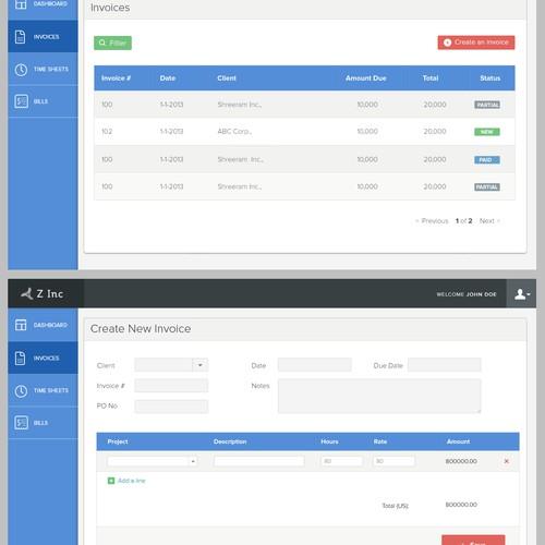 Create the next website design for Z Inc.
