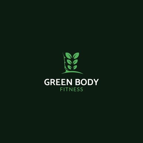 Slim logo for a gym with vegan food