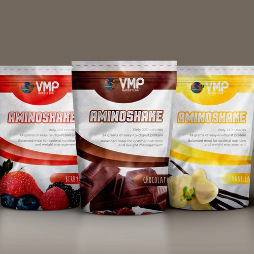 Design an impressive packaging for a Meal Replacement Shake