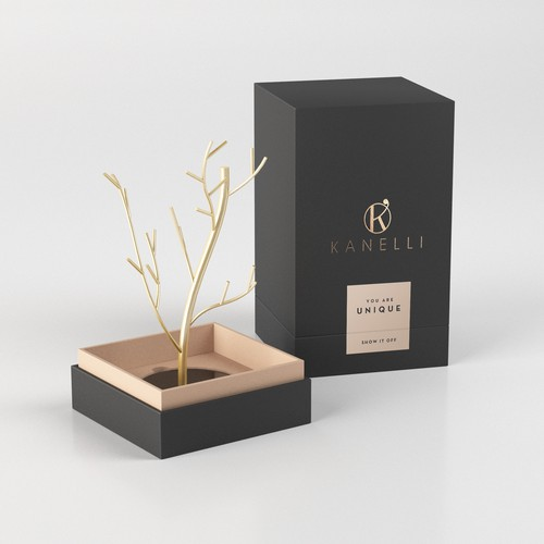 packaging for jewelry stand