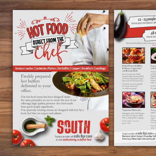 Flyer for Food Catering Company