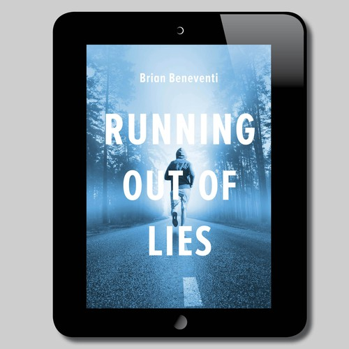 Book cover design for 'Running out of Lies""