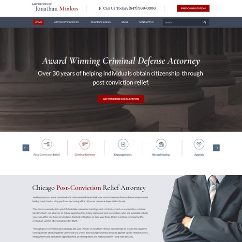 Landing Page Design For Law Offices