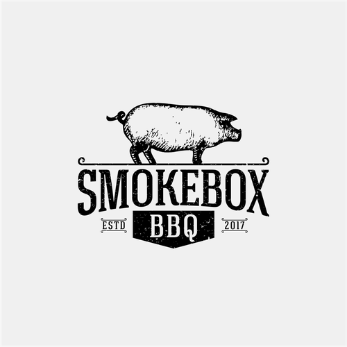 Logo for a bbq food cart