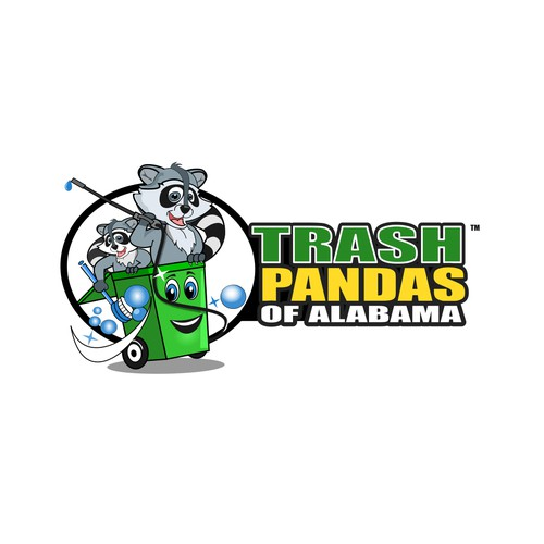 Logo for trash bin and dumpster cleaning