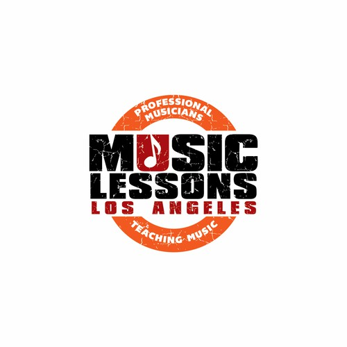 Create a Rockin' logo for a contemporary music school!
