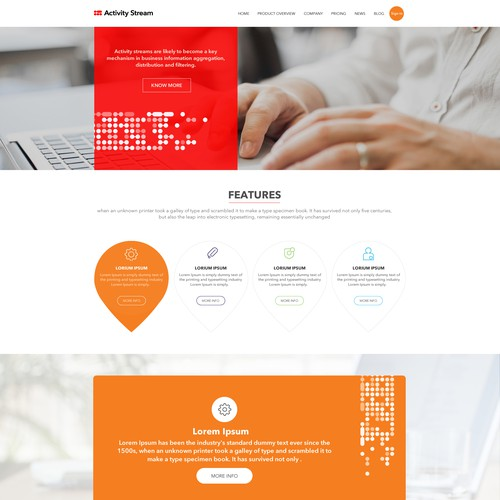 Professional web design for Saas Company