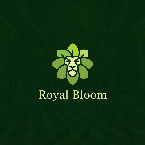 Lion Royal Bloom Logo