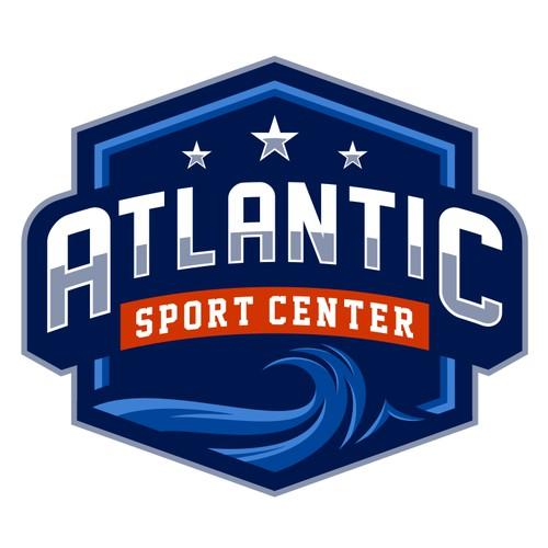 Masculine logo for Atlantic Sports Center