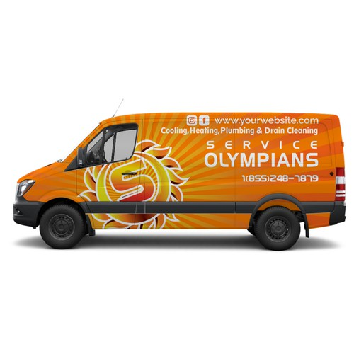 van wrap for service olympians
