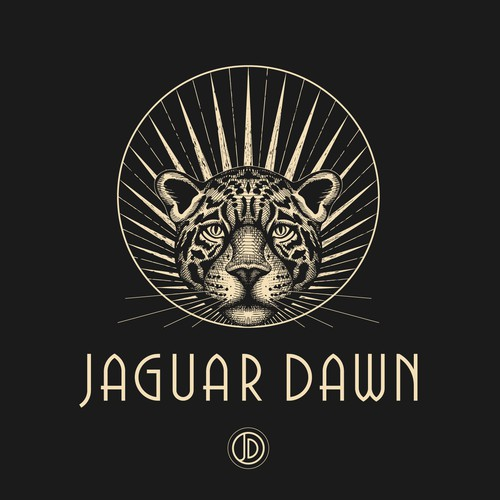 Logo design for Jaguar Dawn - dark glam accessories company.