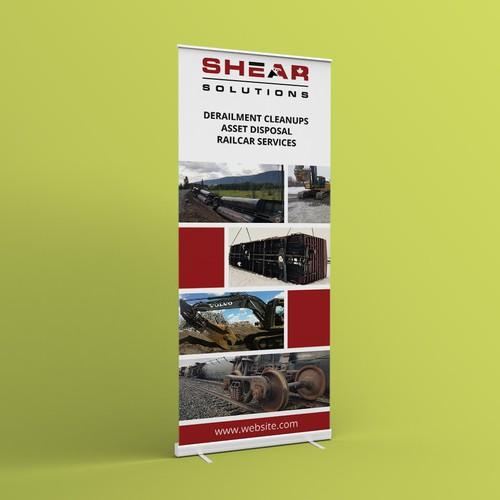 Roll up banner design concept