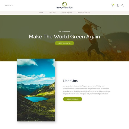 Web Design for eco generation