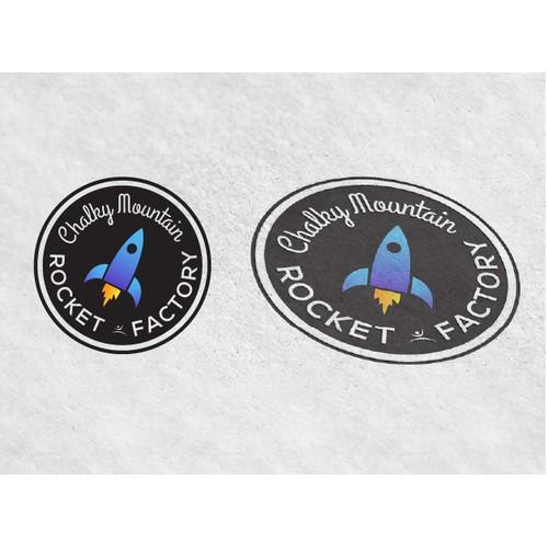 Create a winning logo design for Chalky Mountain Rocket Factory Gymnastics Center