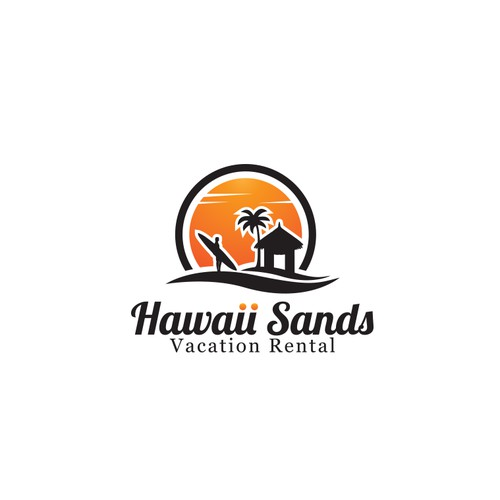 Logo for vacation agency in Hawaii.
