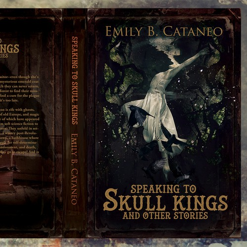 """Book cover for """"Speaking to Skull Kings"""" by Emily B. Cataneo"""