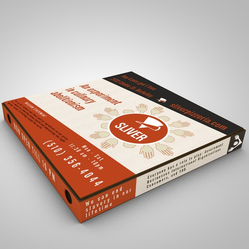 Create a winning pizza box design for Sliver Pizzeria!