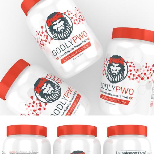Supplements Label Design