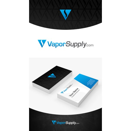 Clean and professional logo for VaporSuppy.com