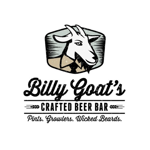 Logo design for Billy Goat's Craft Beer Bar
