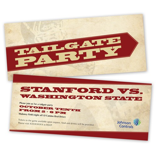 Tailgate Invitation Flyer