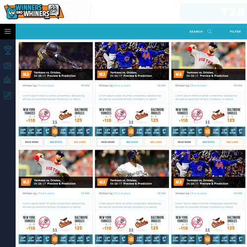 Sports content site needs a cool new look
