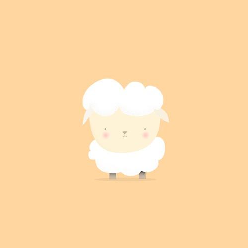 Cute little baby lamb
