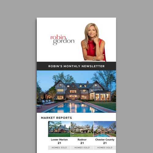 Email Newsletter Design for a Real Estate Company